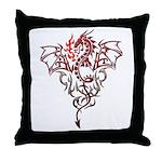 Fire Breathing Tattoo Dragon Throw Pillow
