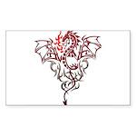 Fire Breathing Tattoo Dragon Sticker (Rectangle 50