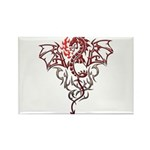 Fire Breathing Tattoo Dragon Rectangle Magnet (100