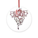 Fire Breathing Tattoo Dragon Ornament (Round)