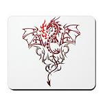 Fire Breathing Tattoo Dragon Mousepad