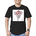 Fire Breathing Tattoo Dragon Men's Fitted T-Shirt