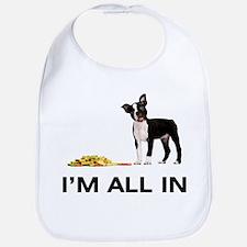 Boston Terrier Poker Bib