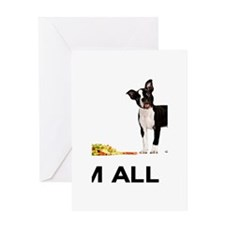 Boston Terrier Poker Greeting Card
