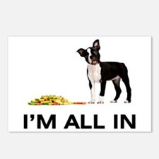 Boston Terrier Poker Postcards (Package of 8)