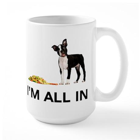 Boston Terrier Poker Large Mug