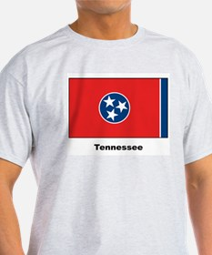 Tennesse State Flag (Front) Ash Grey T-Shirt