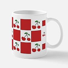 cherries (red check) Mug