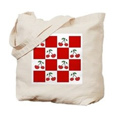 red check/double cherries (2 sided) Tote Bag
