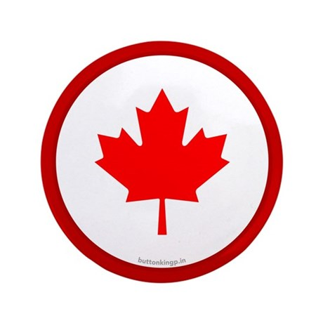 """Canadian Flag 3.5"""" Button (100 pack)"""