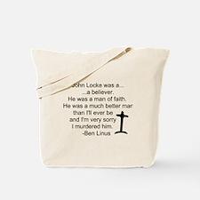 Ben's Words 4 Locke / Tote Bag
