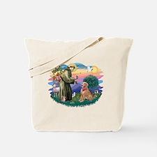 St Francis #2/ Golden Ret (B4) Tote Bag