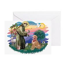 St Francis #2/ Golden Ret (B4) Greeting Card