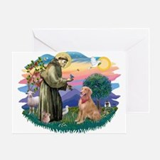 St Francis #2/ Golden Ret (B4) Greeting Card