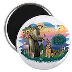 St. Fran #2/ German Shepherd (w) Magnet