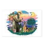 St. Fran #2/ German Shepherd (w) Postcards (Packag