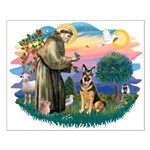 St. Fran #2/ German Shepherd (w) Small Poster