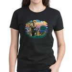 St. Fran #2/ German Shepherd (w) Women's Dark T-Sh