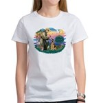 St. Fran #2/ German Shepherd (w) Women's T-Shirt