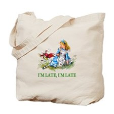 I'M LATE, I'M LATE Tote Bag
