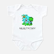Abuelita's Boy Stick Figure Infant Bodysuit