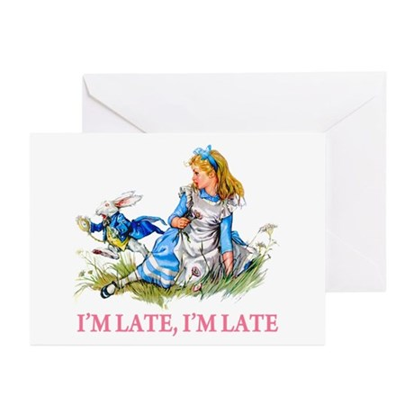 I'M LATE, I'M LATE Greeting Cards (Pk of 10)