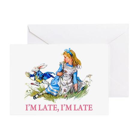 I'M LATE, I'M LATE Greeting Card