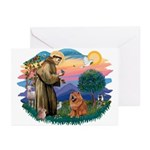 St Francis #2/ Chow (R) Greeting Cards (Pk of 10)