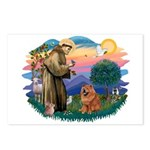 St Francis #2/ Chow (R) Postcards (Package of 8)