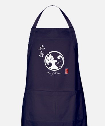 Tao of Meow: Yin Yang Cat Apron (dark)
