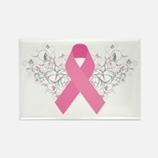 Pink Ribbon Design 3 Rectangle Magnet