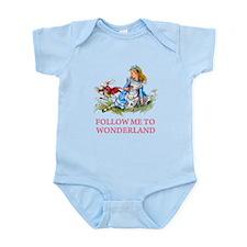 FOLLOW ME TO WONDERLAND Infant Bodysuit