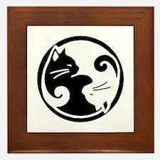 Tao of Meow: Ying Yang Cats Framed Tile/Trivet