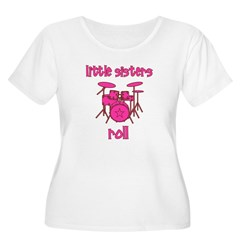 Little Sisters Roll! Drum T-Shirt