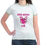 Little Sisters Roll! Drum Jr. Ringer T-Shirt