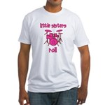 Little Sisters Roll! Drum Fitted T-Shirt