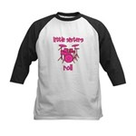 Little Sisters Roll! Drum Kids Baseball Jersey