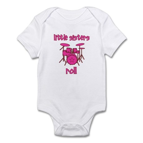 Little Sisters Roll! Drum Infant Bodysuit
