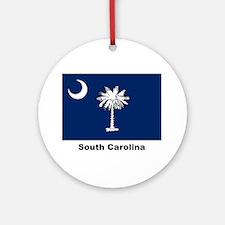 South Carolina State Flag Ornament (Round)