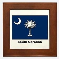 South Carolina State Flag Framed Tile