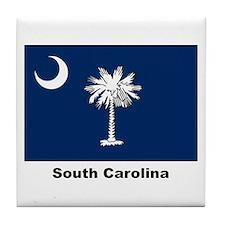 South Carolina State Flag Tile Coaster