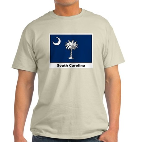 South Carolina State Flag Ash Grey T-Shirt