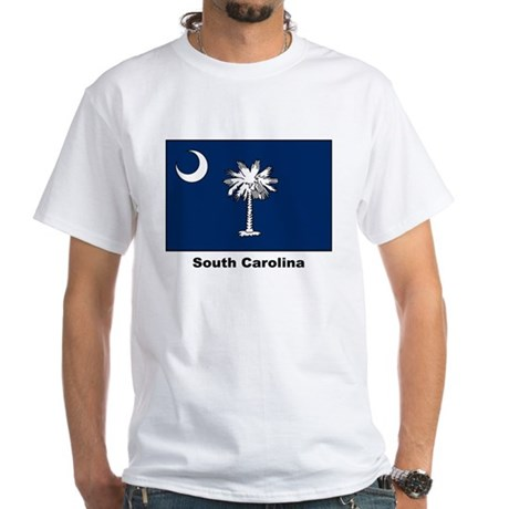 South Carolina State Flag (Front) White T-Shirt