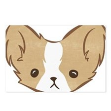 Bobble Chihuahua (longhair toffee) Postcards (Pack