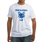Little Brothers Roll DRUMS Fitted T-Shirt