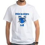 Little Brothers Roll DRUMS White T-Shirt