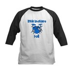 Little Brothers Roll DRUMS Kids Baseball Jersey