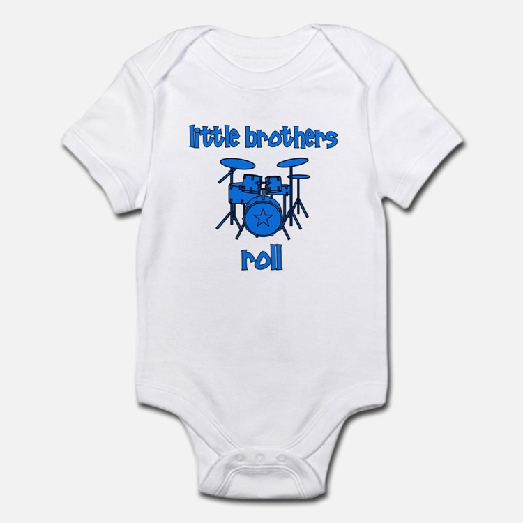 Little Brothers Roll DRUMS Infant Bodysuit