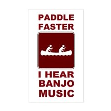 Paddle faster I here banjo mu Decal
