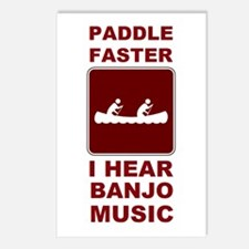 Paddle faster I here banjo mu Postcards (Package o